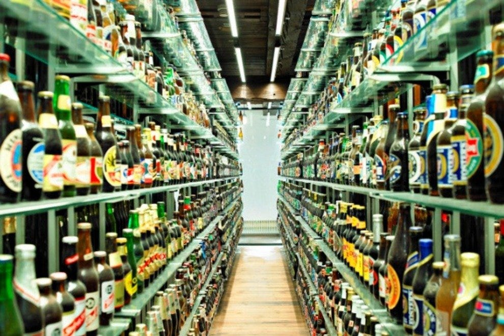 The Carlsberg Visitor's Centre is home to the world's largest collection of unopened beer bottles