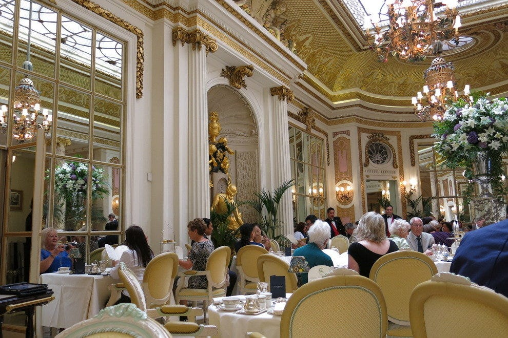 The atmosphere at The Ritz is lovely