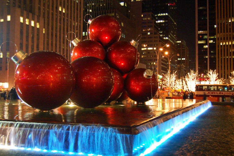 Giant Ornaments of Sixth Avenue
