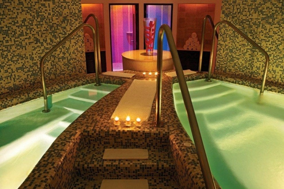Aqua Spa features different sections for men and women