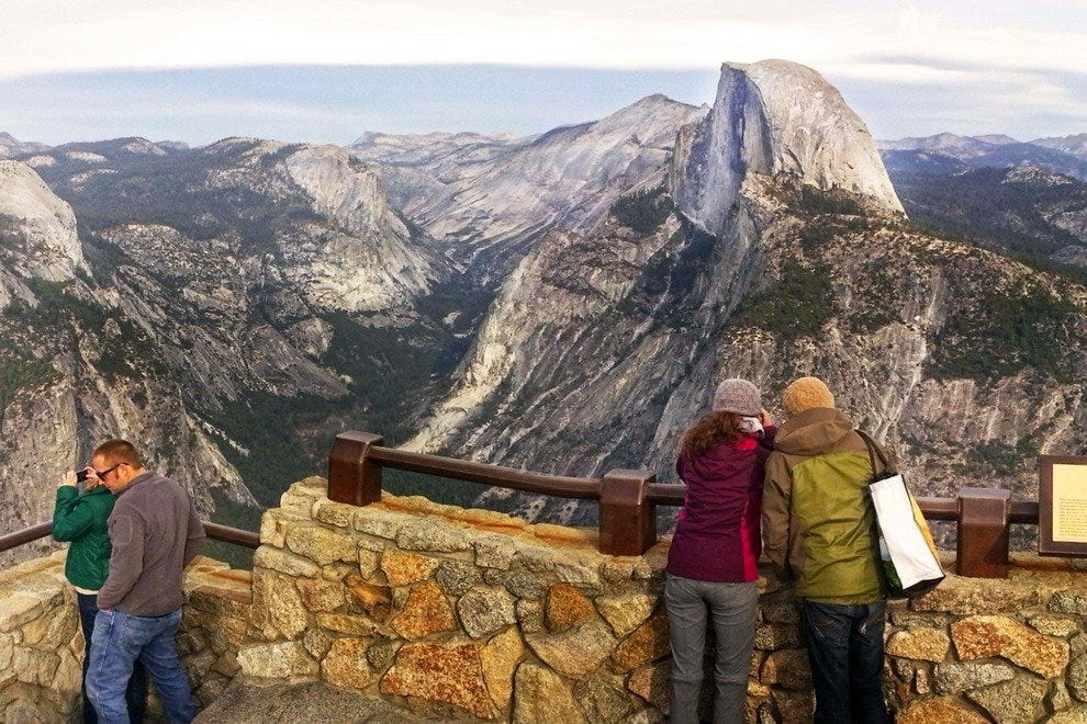 View on Half Dome from Glacier Point, Yosemite National Park