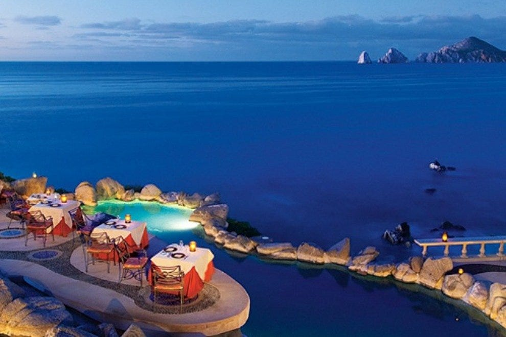 Cabo San Lucas' romantic restaurant, Sunset da Mona Lisa, features fresh local seafood and stunning Land's End views