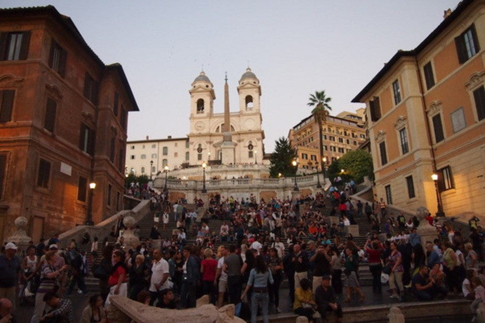 Walk down the Spanish Steps like Audrey did