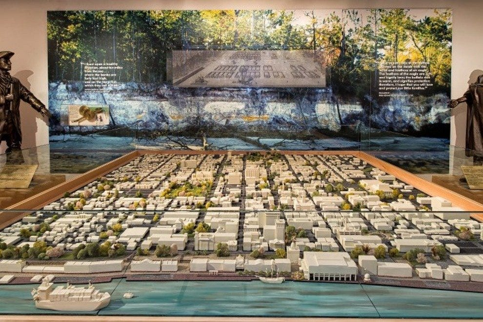 The Massie Heritage Center's 3-D map of the National Landmark District is a great starting point on your architectural journey of Savannah