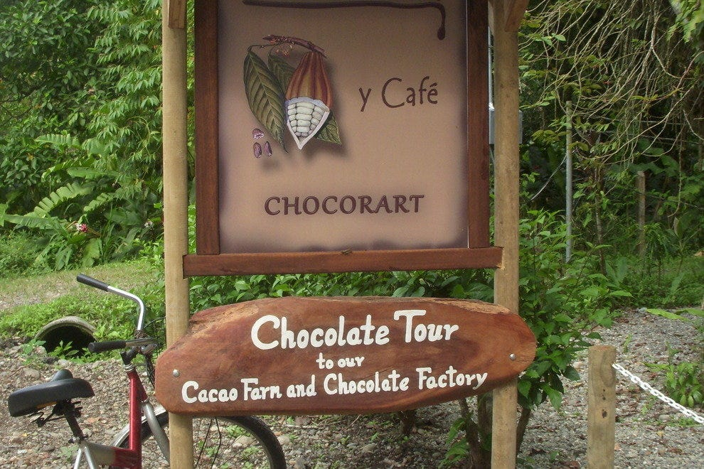 The Chocolateria's roadside sign