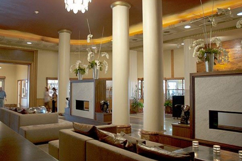 The lobby of Hotel Lafayette in Buffalo