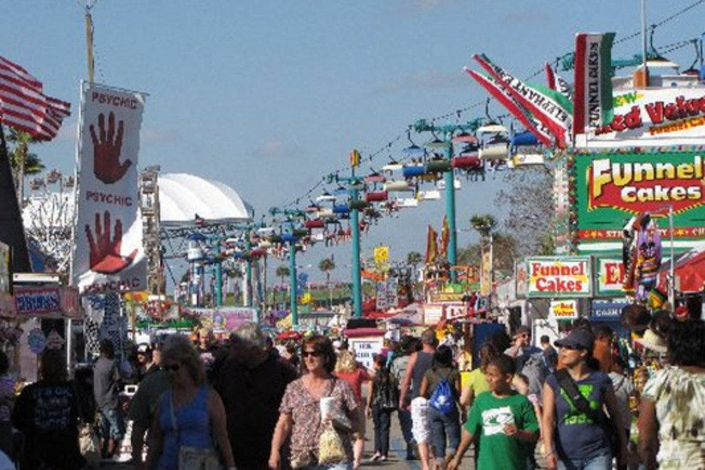 The Florida State Fair midway offers every type of deep-fried food possible