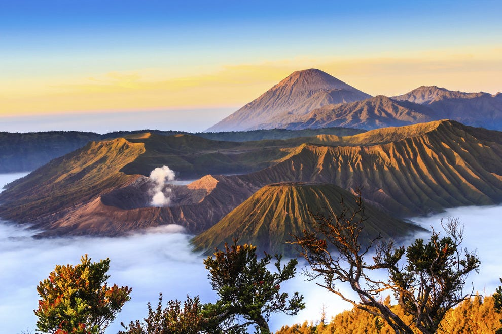 View of Mt Bromo in East Java