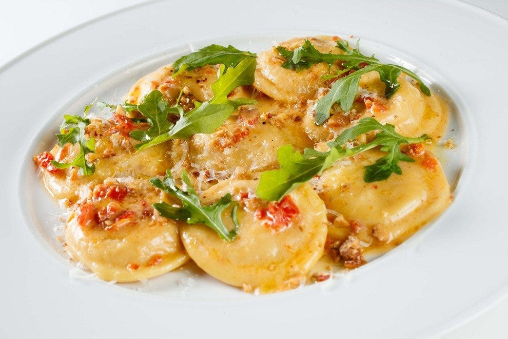Angelina's signature Italian dishes include favorites like ravioli di zucca