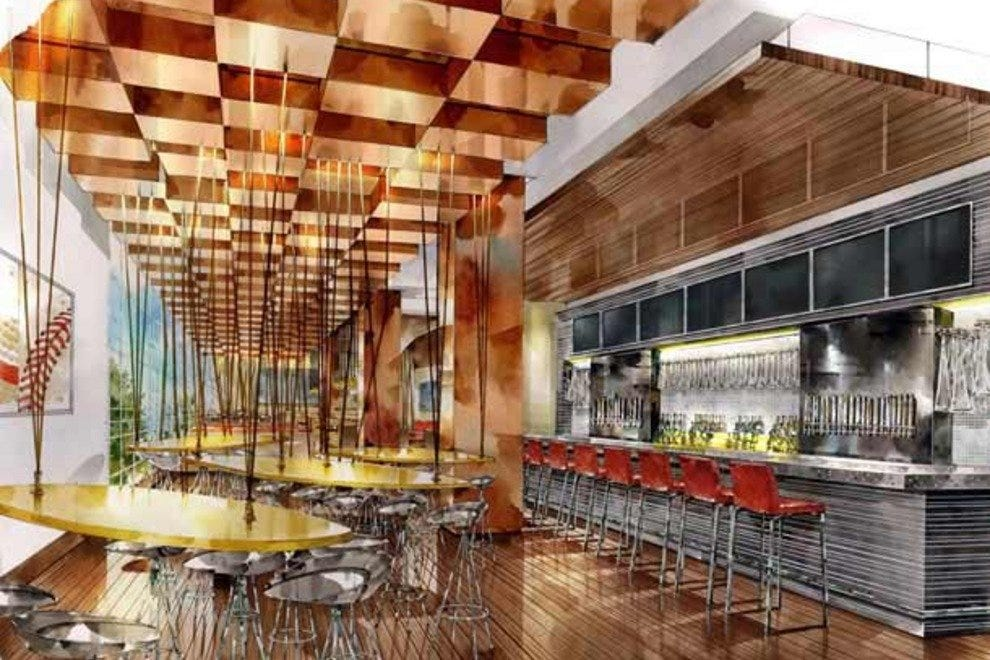 The sports bar will be just one of the hotel's many dining spots