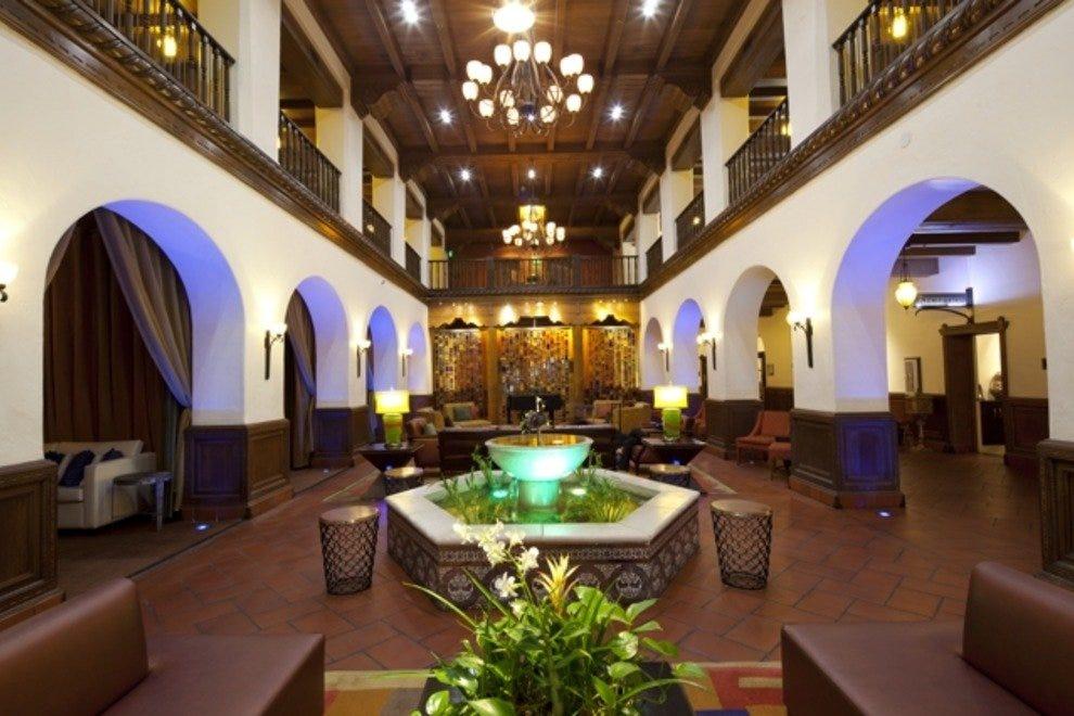The lobby of Albuquerque's Hotel Andaluz