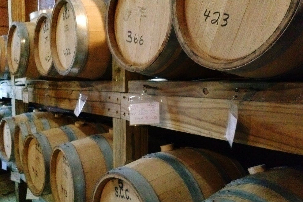"The photogenic barrel room. Sniff hard and perhaps you'll get a whiff of the ""Angel's Share."""