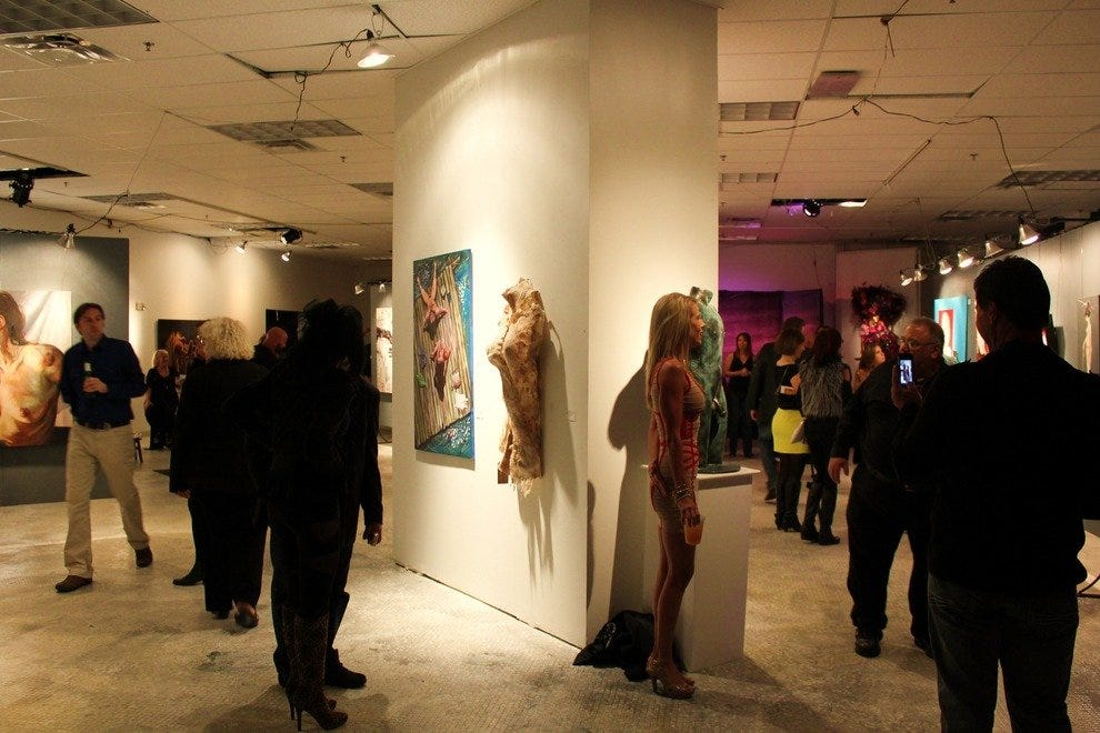 Nude Nite is part performance and part gallery, though oftentimes the lines blur