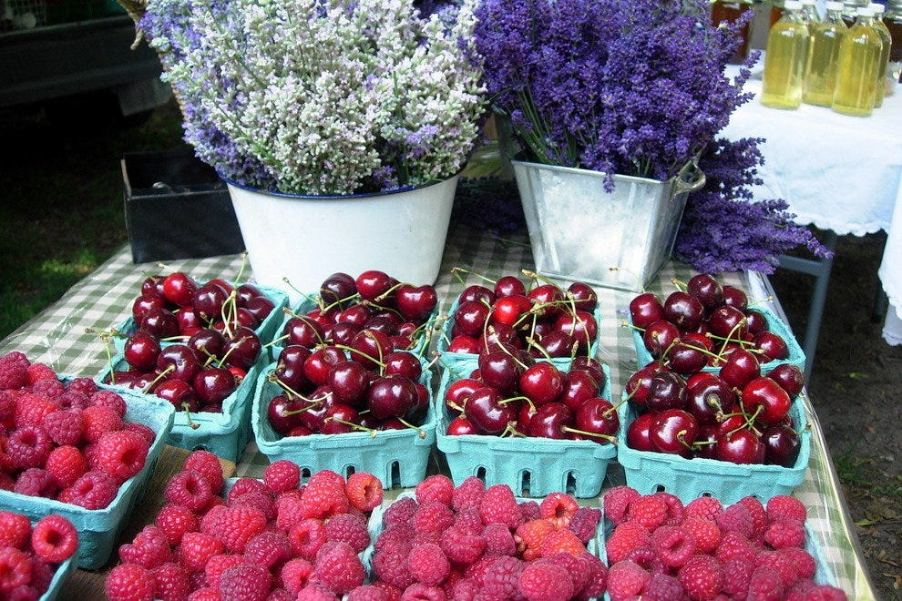 Berries at the Dufferin Grove Market