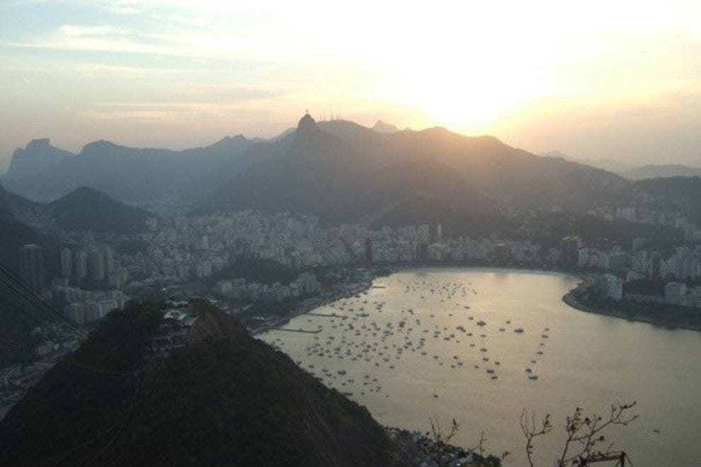 The views from Sugar Loaf are particularly impressive at sunset