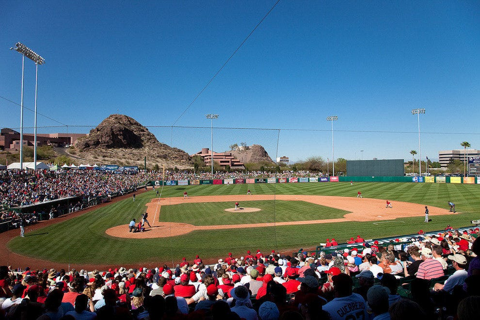 Diablo Stadium in Tempe, spring training facility of the Angels