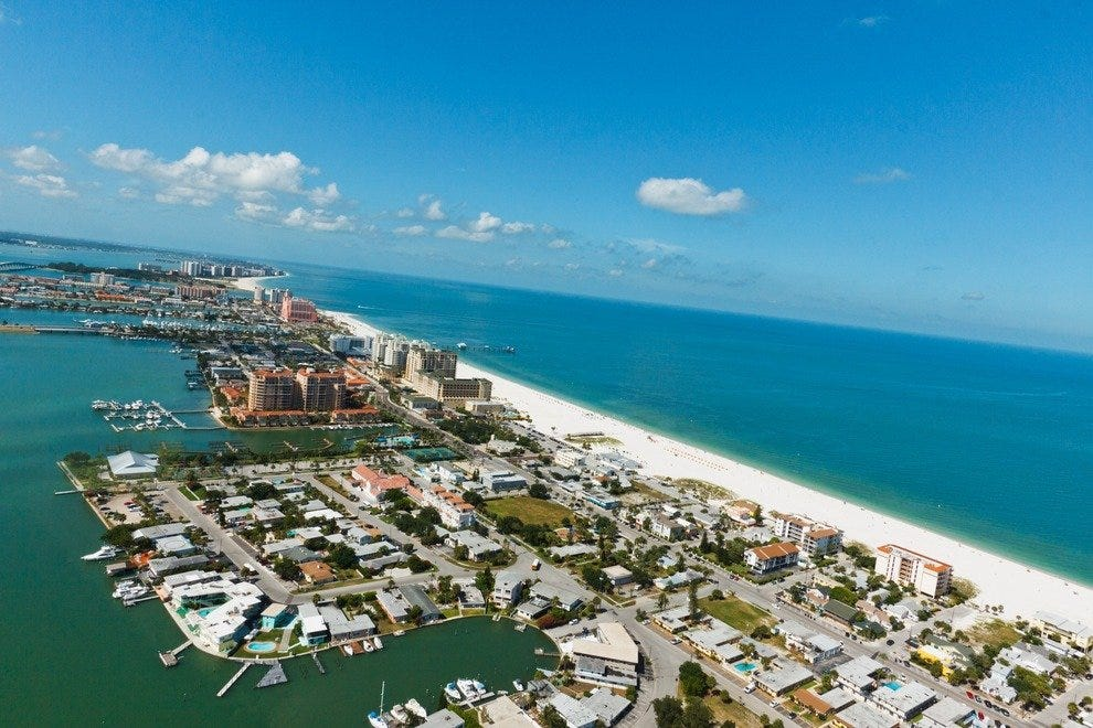 Aerial view of Clearwater Beach