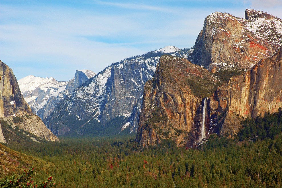 Yosemite Valley sits within the Western Sierra Nevada range