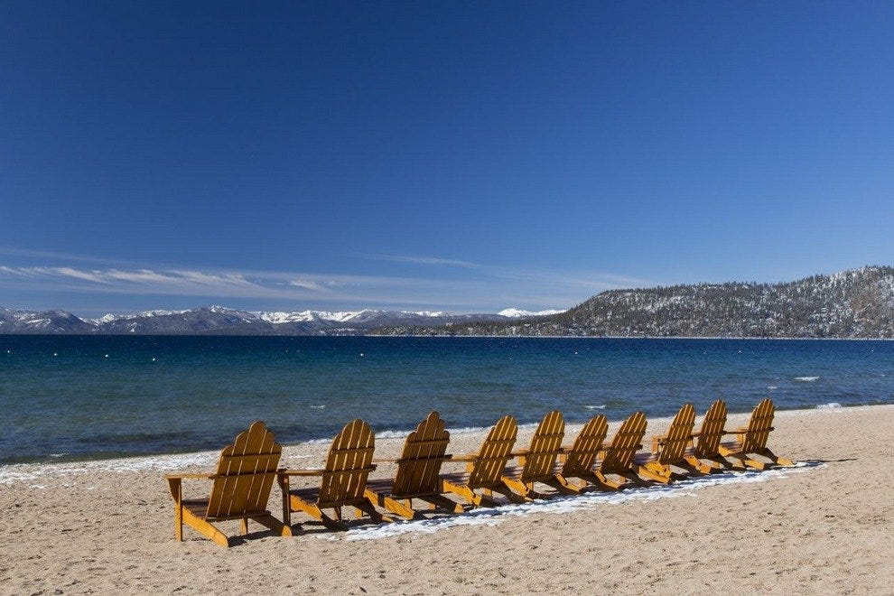 All guests have access to the Hyatt's Tahoe beach