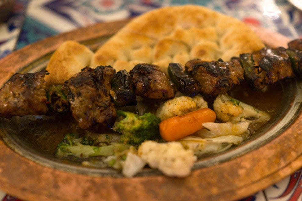 Grilled meat, or kebab, is a mainstay of Turkish cuisine.