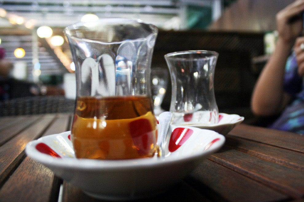 Apple tea, drunk hot or cold, can be found almost anywhere in Istanbul.