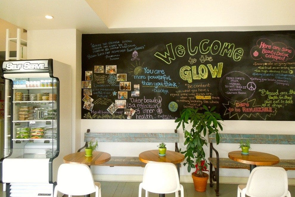 Inside Kimberly Snyder's My Glow Bio juice and health refuge on Melrose Avenue
