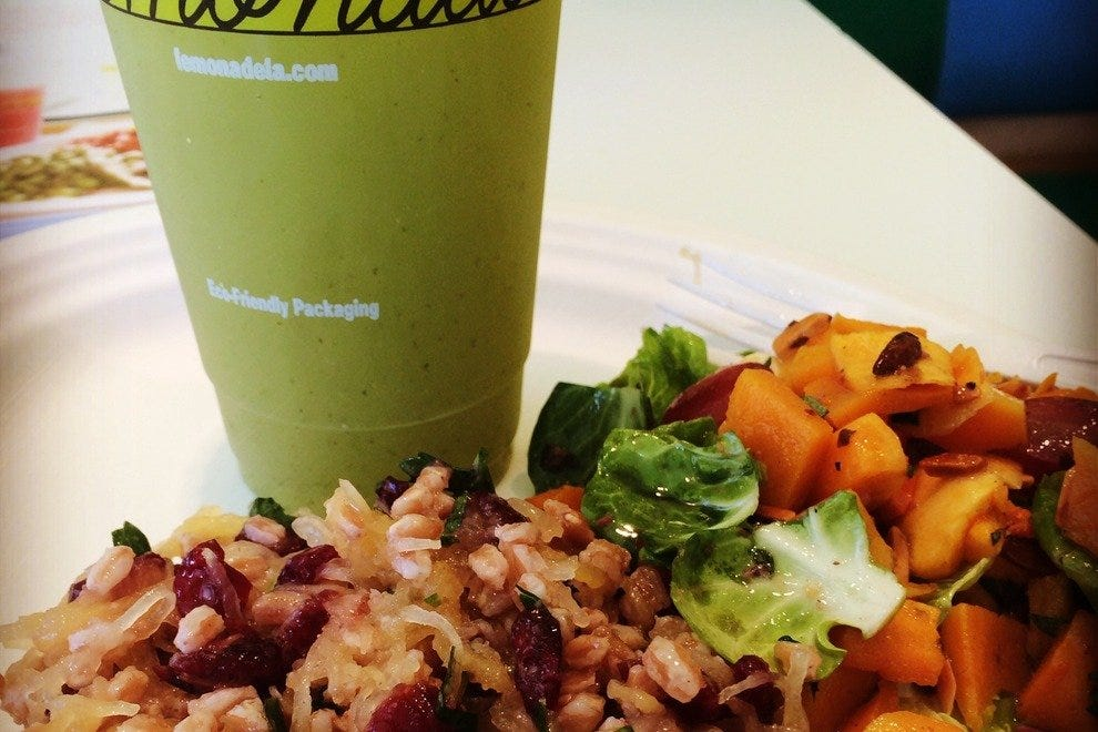 Healthy fare at stops like Lemonade in West Hollywood Design District is key to looking good