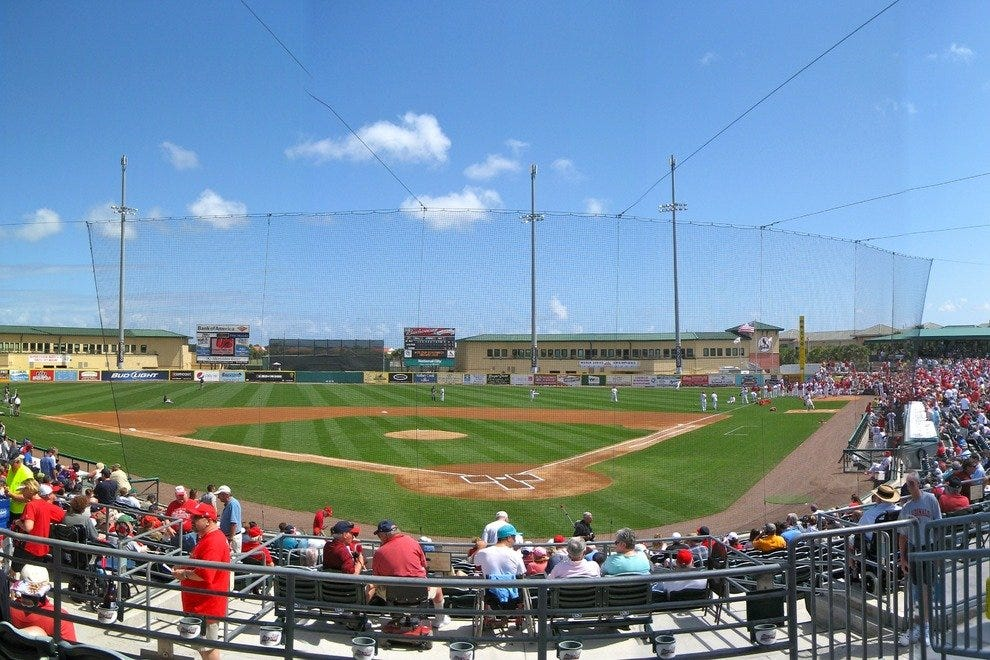 Panoramic view of the spring home to the Cardinals and Marlins