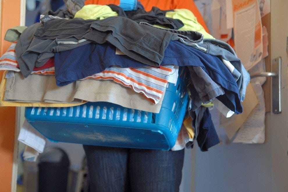 Donate or pack away your winter clothes to save space.
