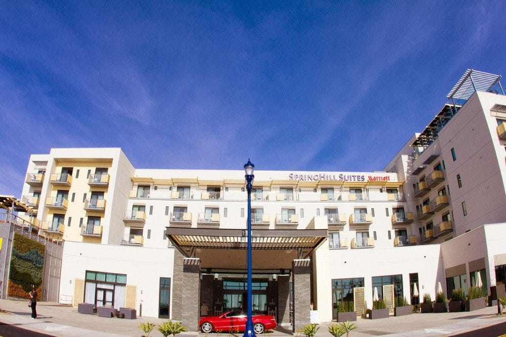SpringHill Suites in Oceanside is a quick walk from the beach.