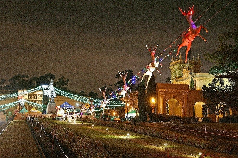 balboa park december nights - Balboa Park Christmas Lights