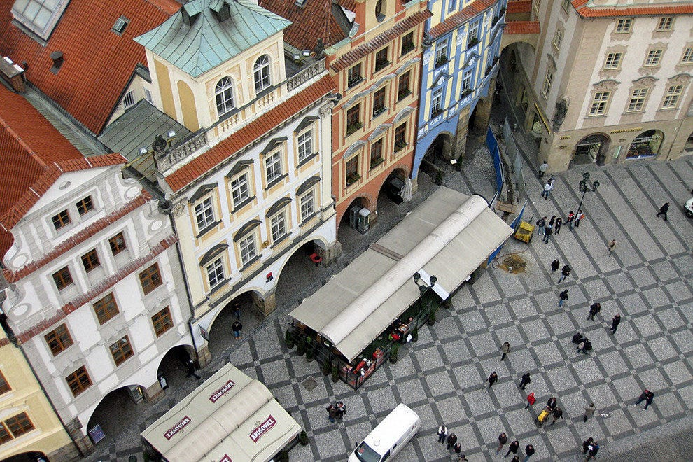 A bird's-eye view of Old Town Square