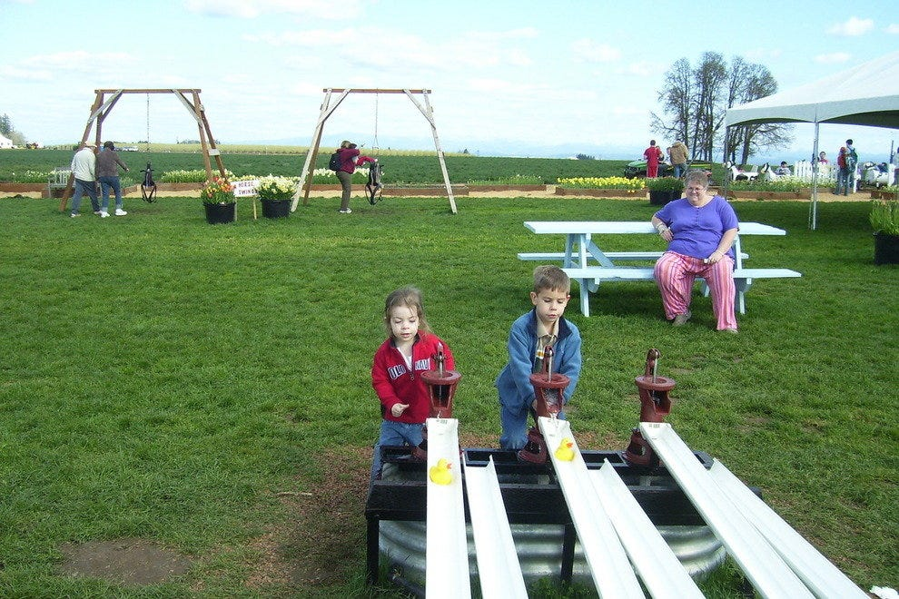Children's play area at the Tulip Fest