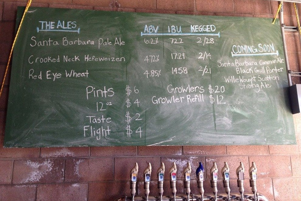 Check the board at Pure Order Brewing Company to see what they're pouring on any given day.