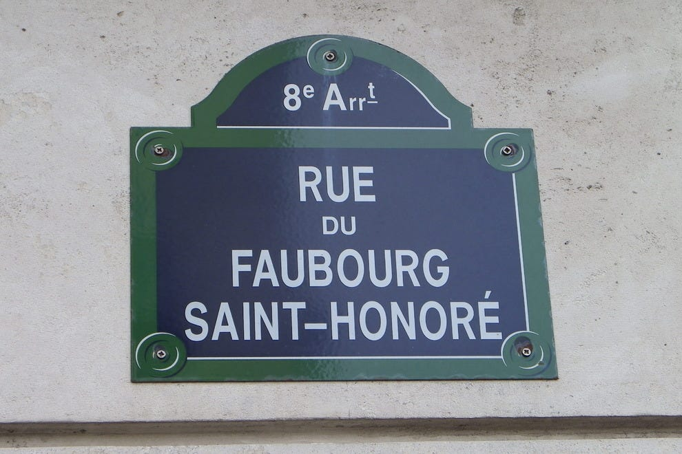 rue du faubourg saint honor paris shopping review. Black Bedroom Furniture Sets. Home Design Ideas