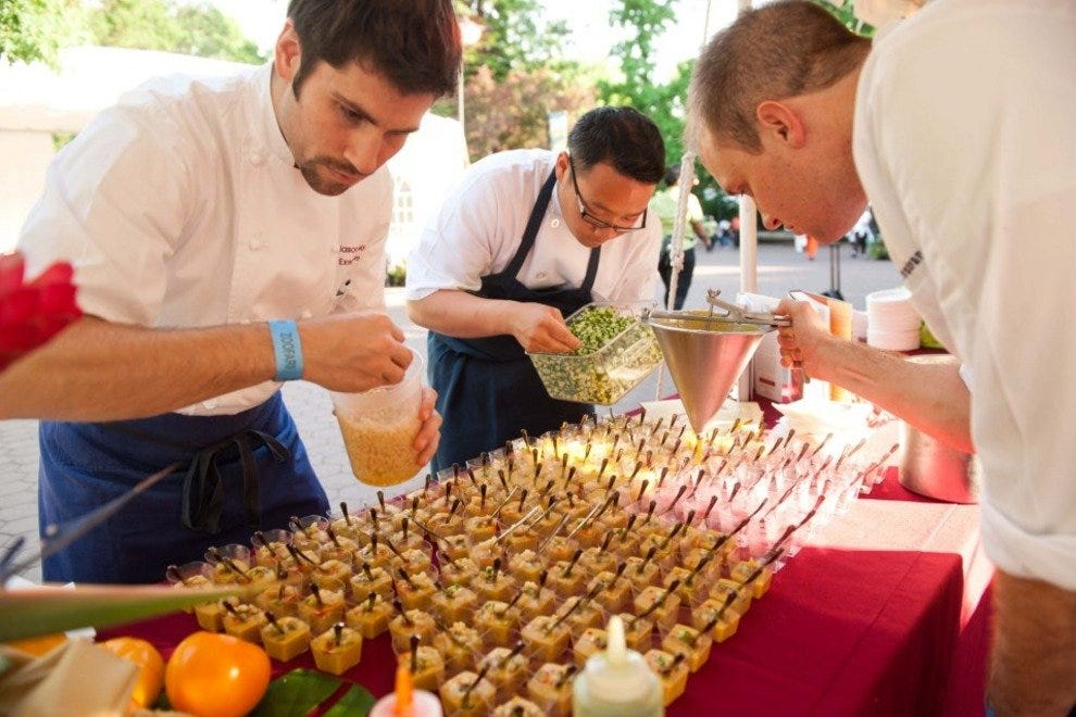Celebrity chefs will serve up their finest dishes during the event.
