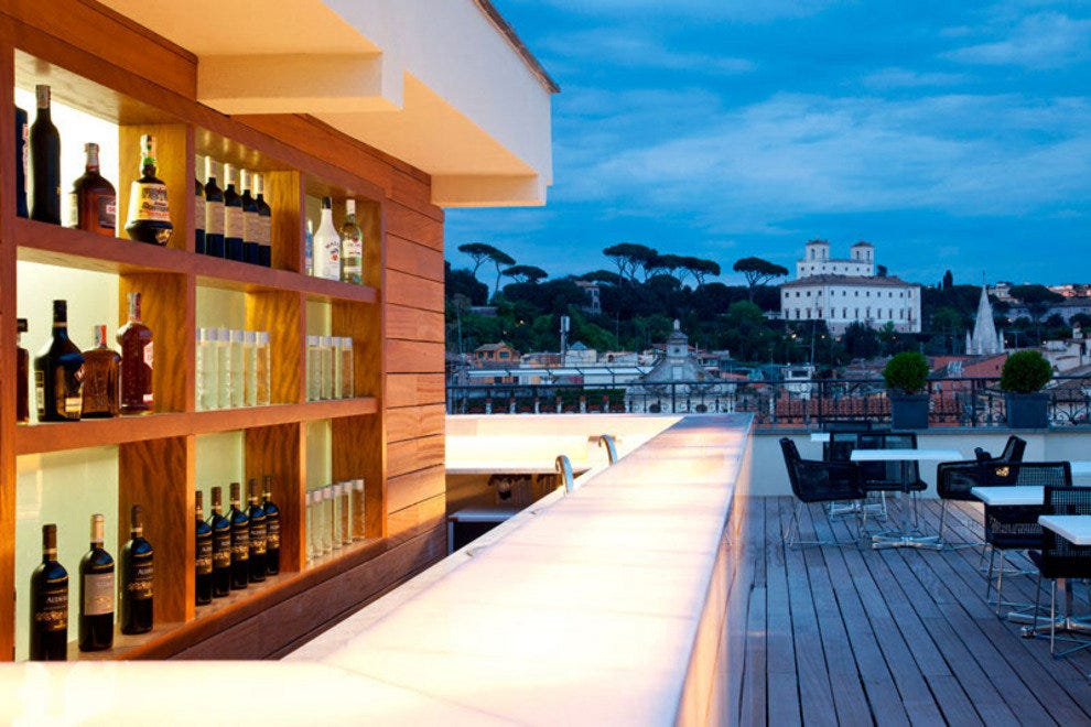 Best rooftop bars at rome 39 s premier hotels hotels article for Design boutique hotel rome