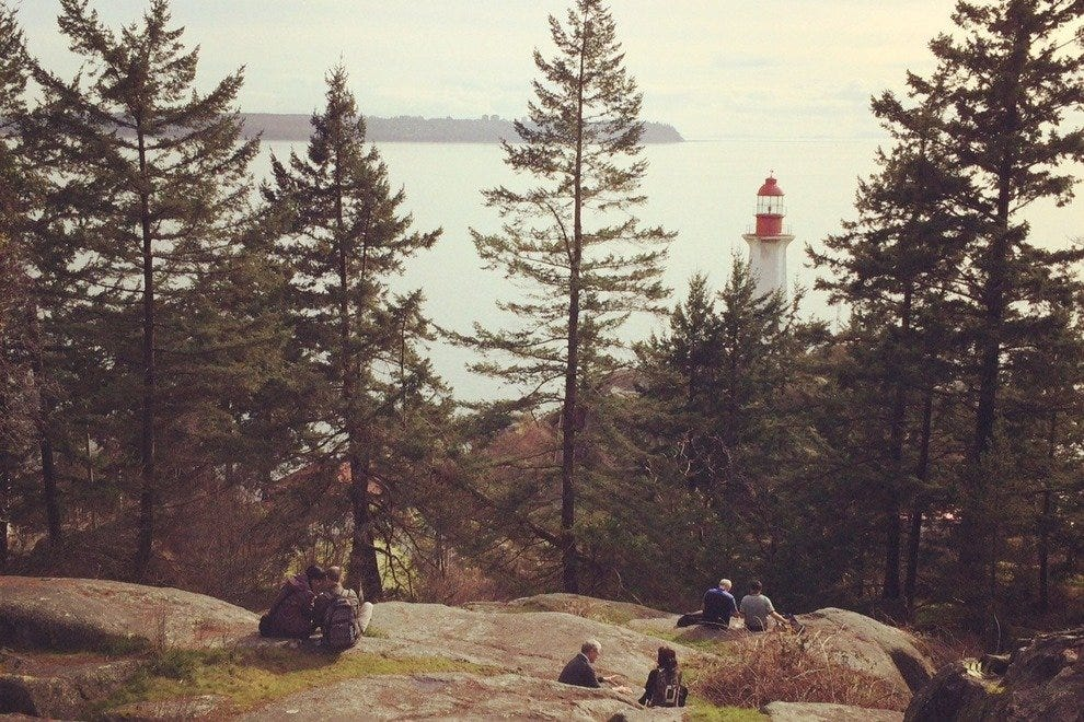 Take a load off at Lighthouse Park.