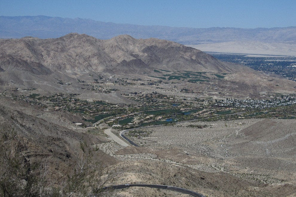 The view of Coachella Valley from Vista Point