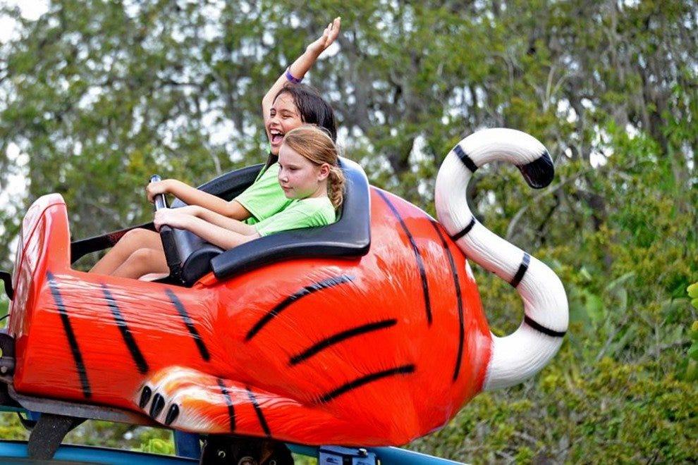 整个公园都有适合家庭的游乐设施和其他设施。