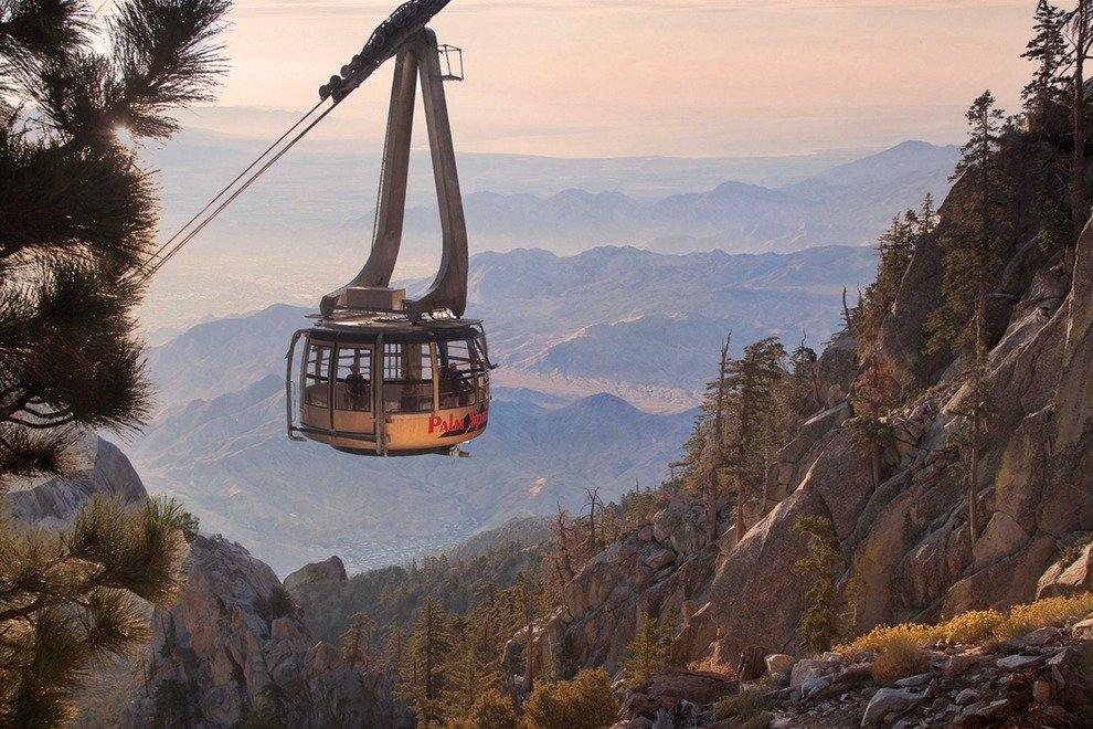 The spectacular view from the top of San Jacinto inspires romance.