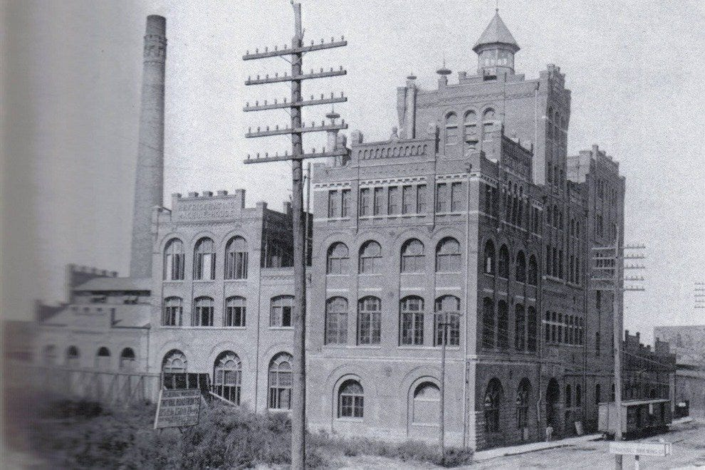 The historic Tennessee Brewery, in its heyday