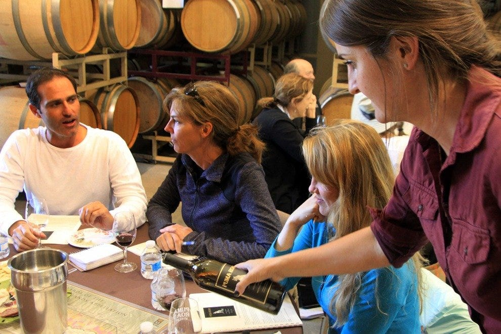 Wine-tasting, Puma Road Winery