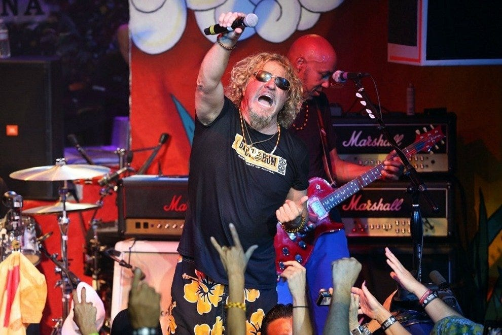 Former Van Halen frontman Sammy Hagar is the celebrity most frequently associated with Cabo San Lucas.