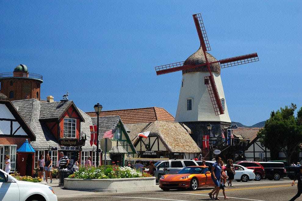 Windmills are run-of-the-mill in the Danish town of Solvang, just north of Santa Barbara
