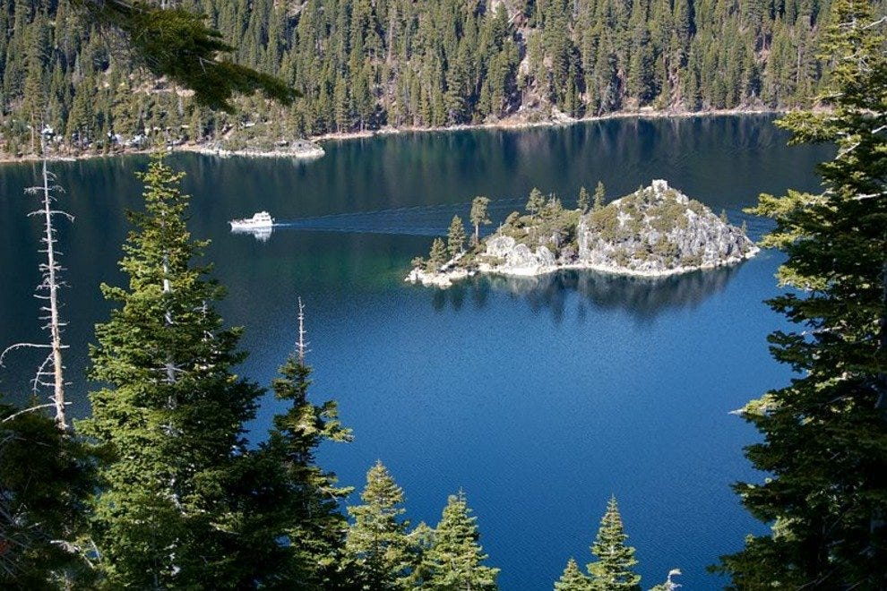 A view of Emerald Bay from Eagle Falls