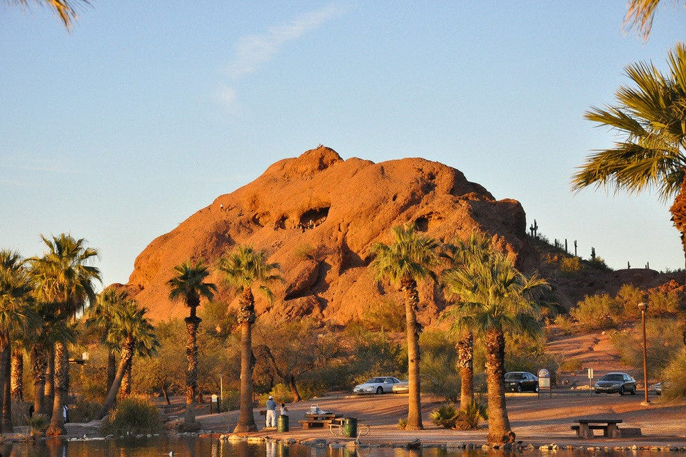 A drive through the Papago buttes in Phoenix is one of the most scenic rides in town