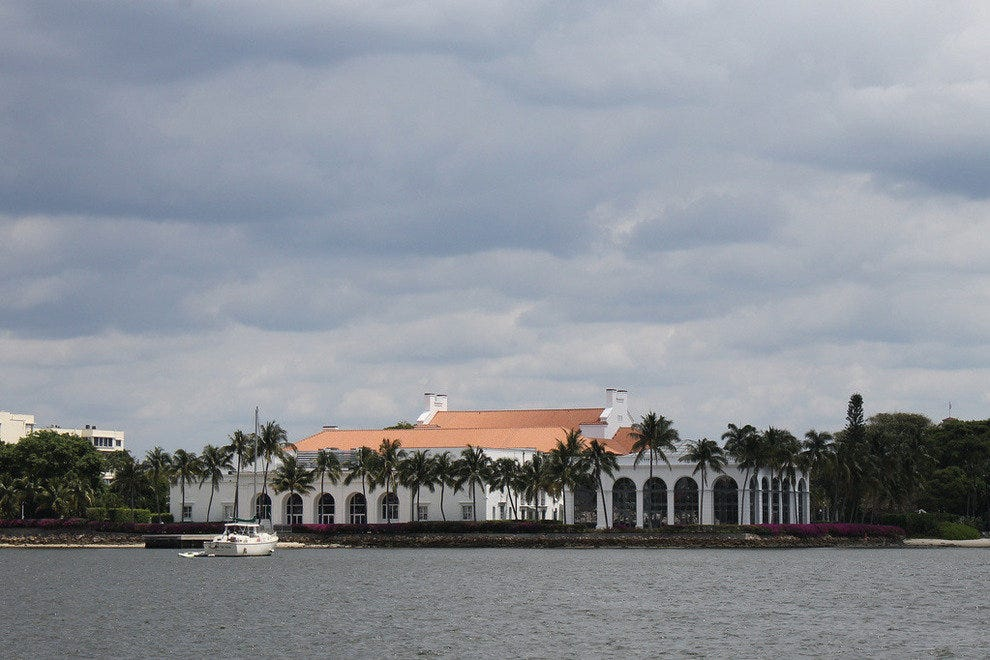 Great view of Flagler Museum from the intracoastal waterway