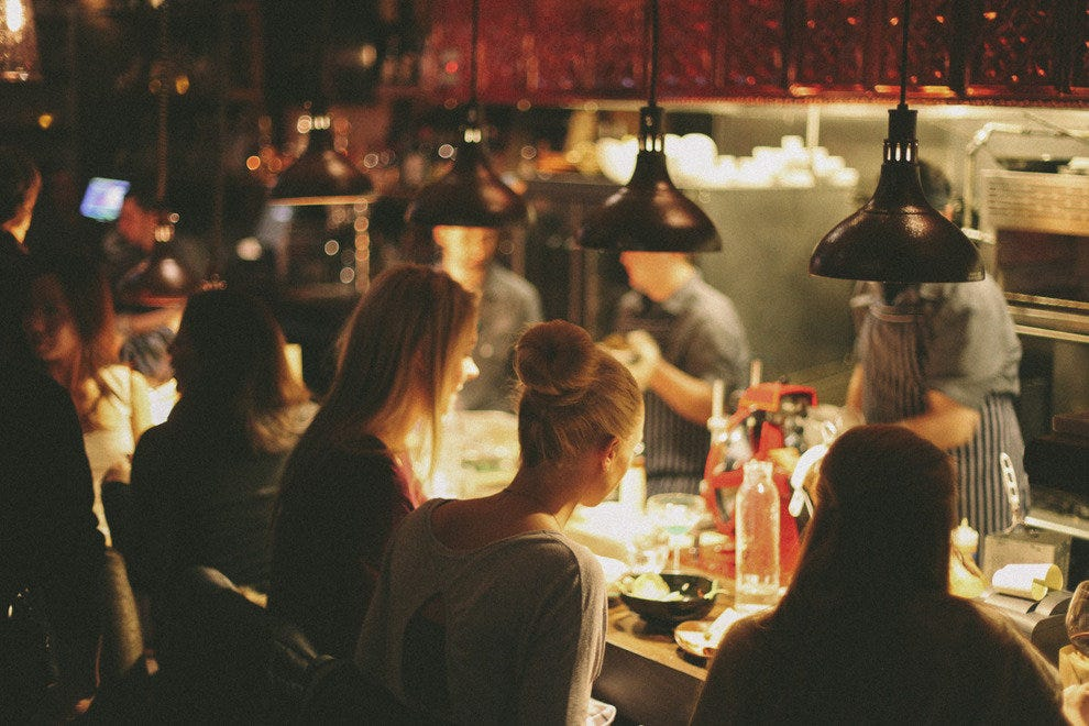 The open floor plan at Bottlefork makes the atmosphere cozy and warm