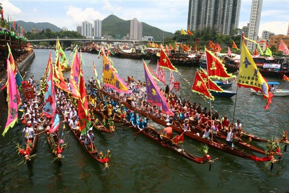 Hong Kong's Dragon Boat races are a riot of color